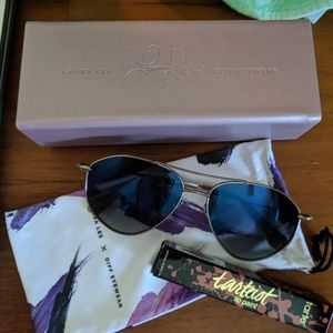 Diff Eyewear Accessories - DIFF with Laura Lee aviator glasses